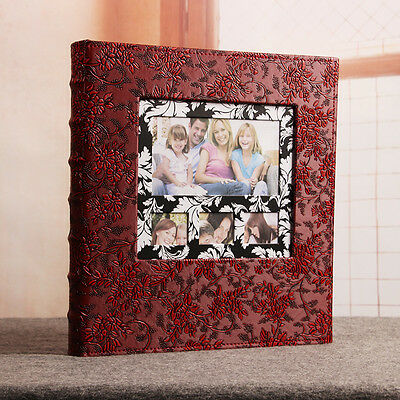 600 Pockets Slip In Jumbo Leather Photo Album 6 Inches Photos - 6 Designs