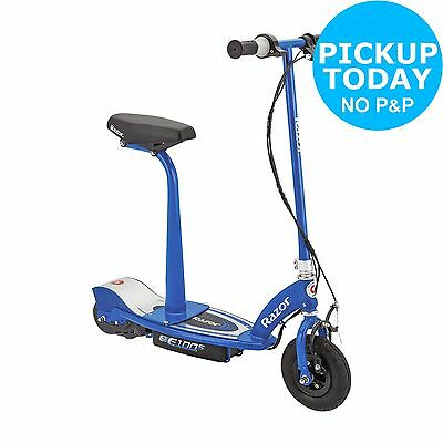 Razor E100S Electric Scooter With Seat – Blue.