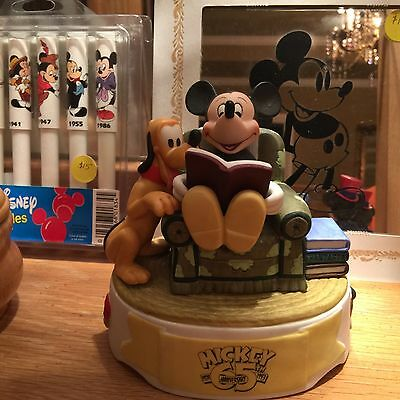 RARE Disney Mickey Mouse musicial Bisque porcelain figurine out of production