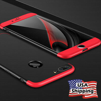 Slim Hybrid Shockproof Armor Hard Thin Case Back Cover for iPhone X/8/7/6s Plus