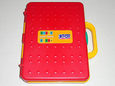 Cadaco SUM TIME Math Learning Set Homeschooling Addition Subtraction Tiles Game