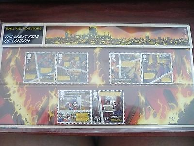The Great Fire of London - Royal Mail Mint Stamps Set