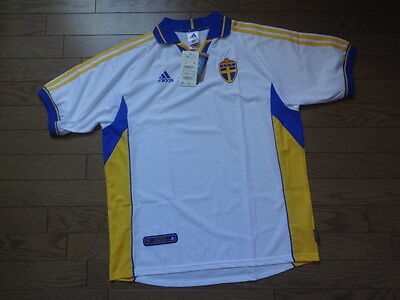 Sweden 100% Official Original Soccer Jersey Shirt L 2000/2001 Away BNWT NEW [1H]