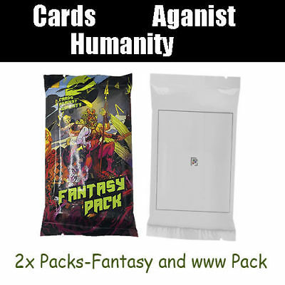 Cards Against Humanity 2x New Fun Booster Expansion Pack Party Game Fantasy www