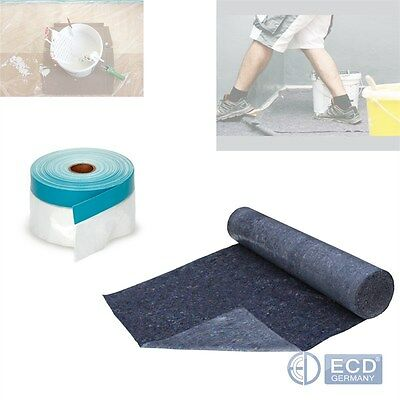 Roll Painter Cover Nonwoven Fleece Repellent Absorbent + Masking Tape Foil Cover