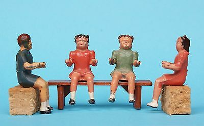 CRESCENT TOYS METAL SEATED CHILDREN from SCHOOL DAYS or GARDEN TEA PARTY SETS