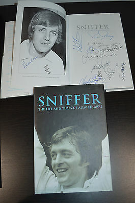 Signed By 10 Allan Clarke Sniffer Hand Signed Book Autograph Coa Leeds United 3
