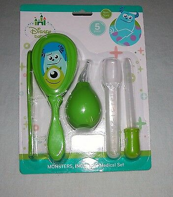 Disney Baby Monsters, Inc. (5) Piece Green Infant Medical Set New
