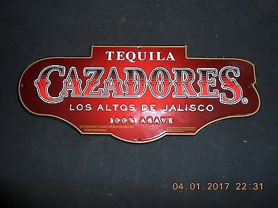 """New Tequila Cazadores Tin Sign 12"""" Long x 5"""" Tall"""