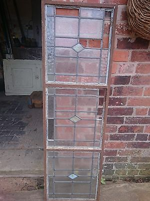 Leaded stained glass crittal framed panel