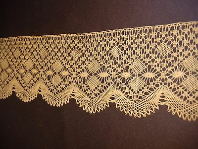 "Antique Off White Lace Trim 2 3/4"" x 1 yard Unused More Available Good For Doll"