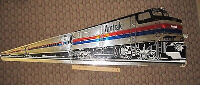 Large Vintage Stand Up Cutout  Amtrack Counter Sign Cardboard Train