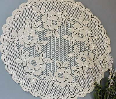 Vintage French style lace round centerpieces( lot of 2)