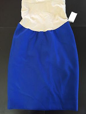 A pea in the pod xs blue pencilskirt maternity
