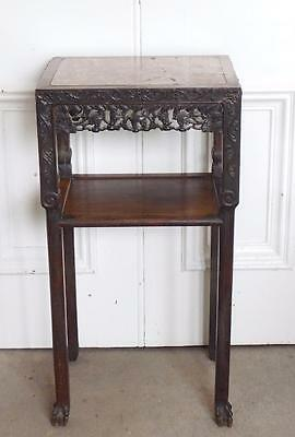 19th Century Qing Dynasty Jardiniere Stand Table Marble Top