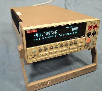 Calibrated! Keithley 2420-C High Current Source Meter w/Measurements to 60V/3A