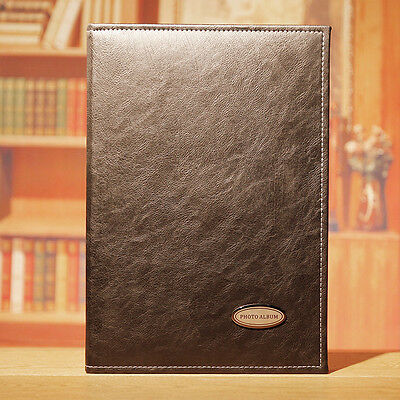 240 Pockets Slip In Leather Jumbo Photo Album 6 Inches Photos