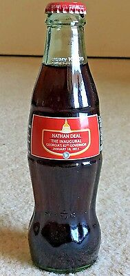 RARE 2011 Georgia's 82nd Governor Nathan Deal Inaugural Coca Cola Coke Bottle