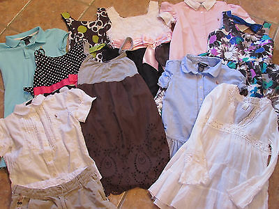11 Piece Girls Clothing Lot Sizes 8-10-12-Ralph Lauren-Crewcuts-Wet Seal, Etc.