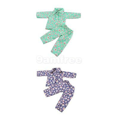 3 Sets Cherry Print Pajamas Clothes for 18'' American Girl Our Generation Doll