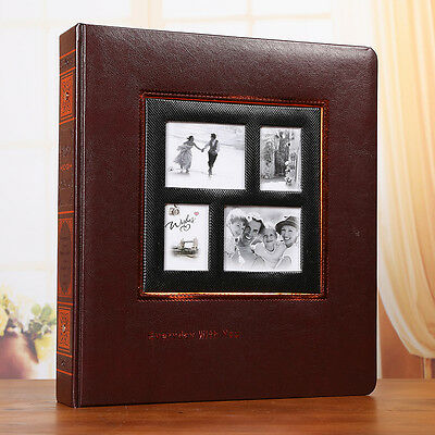 452 Pockets Slip In Leather Jumbo Photo Album 6&8 Inches Photos All In One