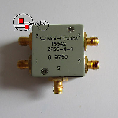 1×USED Mini-Circuits ZFSC-4-1 1-1000MHz 4-Way SMA RF Power Divider Splitter
