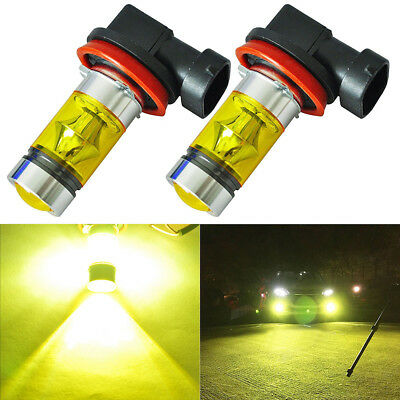 2x H8 H11 H16 4300K Yellow High Power CREE Fog Light LED Driving Bulb DRL AU