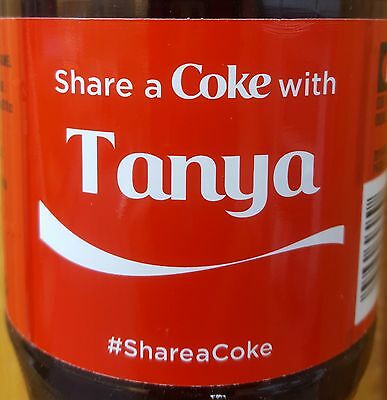 Summer 2015 Share A Coke With Tanya Personalized Coca Cola Collectible Bottle