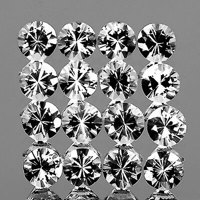 2.00mm ROUND 20 PIECES BRILLIANT NATURAL WHITE SAPPHIRE [FLAWLESS-VVS]