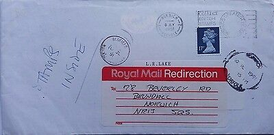 Great Britain 1991 Norwich Cover With Redirection Label Blofield