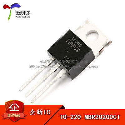 5PCS X MBR20200CT B20200G Schottky diode 20A/200V TO-220