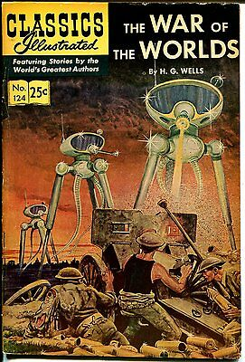Classics Illustrated #124 1968-Gilberton-War Of The Worlds-Wells-HRN 166-FN