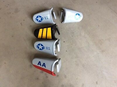 LOT of (5) Restore Vintage Pedal Airplane with A Pair of Pedal Plane Front Wings