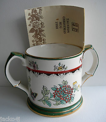 Wade 1988 2 Handled Floral & Butterfly Taunton Cider Mug Limited Edition Of 500