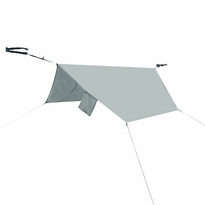 PahaQue Rainfly Shade and Rain Cover for Single Hammock Grey Finish HM10R