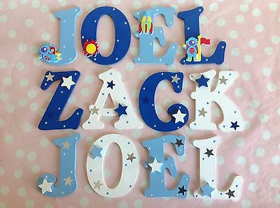 Children Personalised Wooden Letters Door Wall Birthday Easter Gift Boys Girls