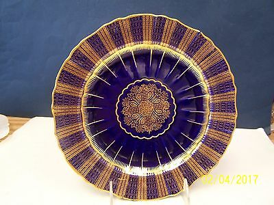Minton Cobalt and Gold Abstract Plate