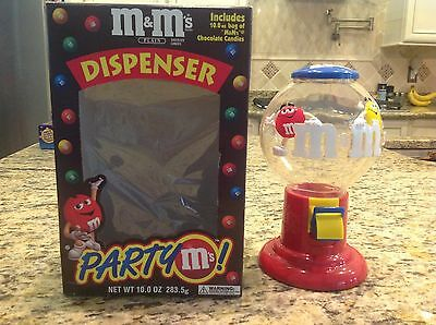 Vintage M&M's Plain Yellow & Red Candy Dispenser Party M's Original Box MINT !!