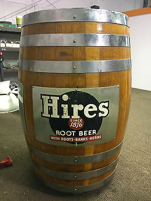 VTG Original Hires Root Beer Wood KEG Barrel Soda Fountain Dispenser Tap System