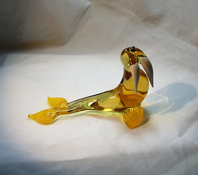 Art Blown Glass Murano Figurine Glass Walrus Figurine #2