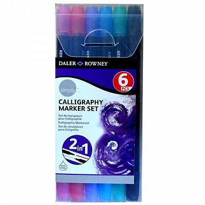 Daler Rowney Simply Calligraphy Marker Set - 6 Pieces