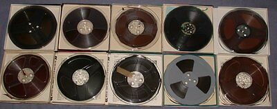 """LOT 7"""" Reel to 1/4"""" Magnetic Audio Recording Tapes (10) Scotch Ampex Sony NICE!"""
