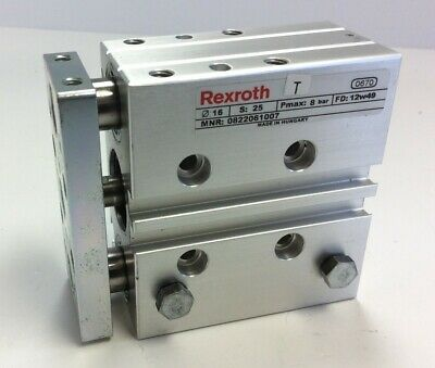 Rexroth 0822061007 Dual Guided Pneumatic Air Cylinder 16 mm Bore 25mm Stroke
