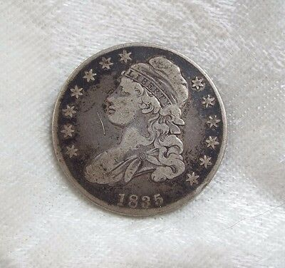 BARGAIN 1835 Capped Bust/Lettered Edge Half Dollar FINE Silver 50-Cents