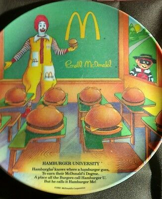 Set of 3 ~ McDonalds Lexington Melamine Dinner Plates ~ Ronald McDonald