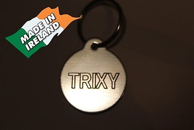 Dogs dog cat cats tag ID name pet disc tags engraved  personalized Pet ID Tag.