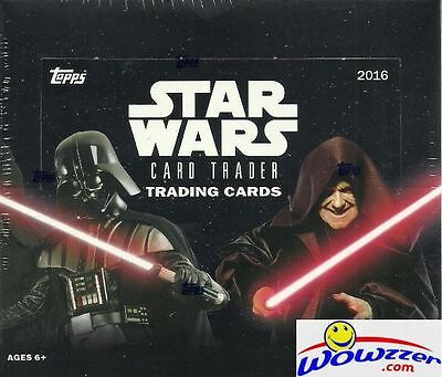 2016 Topps Star Wars Card Trader MASSIVE 24 Pack Retail Box-144 Cards !