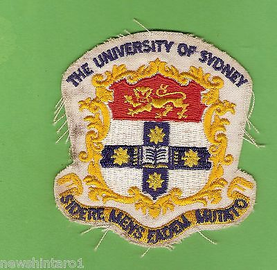 #d295. The University Of Sydney  Cloth  Patch