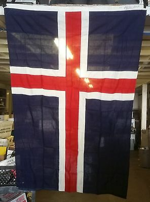 Vintage Historic Cotton Flag of Iceland 4 x 6