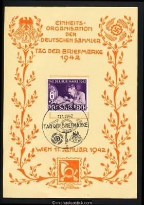 Germany 1942 FMC Vienna Stamp collecting commemorative card